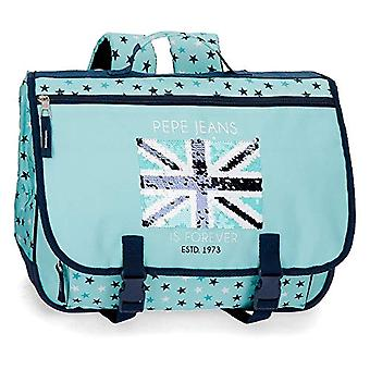 Pepe Jeans Heart Backpack 40 centimeters 19.2 Blue (Azul)