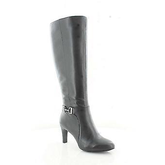 Alfani Womens Perrii Leather Closed Toe Knee High Fashion Boots