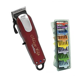 Wahl Schnurlos Magic Clipper und 1-8 farbige Clipper Kamm Set