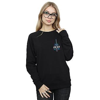 Star Wars der Aufstieg von Skywalker Jedi Abzeichen Brust Druck Frauen's Sweatshirt