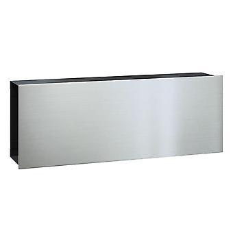 Serafini krant specialist platte brede - lichaam staal, zwart - front, roestvast staal V4A 16,1 x 42,2 x 9,3 cm