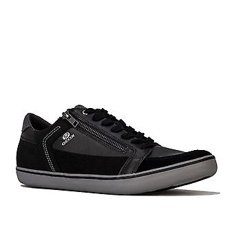 Mens Geox Halver Trainers In Black- Equipped With Geox Respira Technology