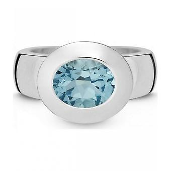QUINN - Ring - Women - Silver 925 - Gemstone - Blue Topas - Width 56 - 21002658