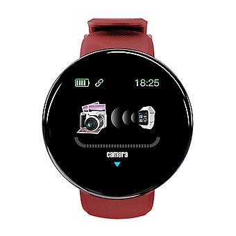 Stuff Certified ® Original D18 Smartwatch Curved HD Smartphone Sport Fitness Sport Activity Tracker Watch iOS Android Red