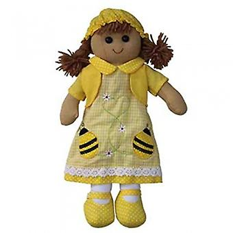 Powell Craft Bumble Bee Design Fabric Rag Doll