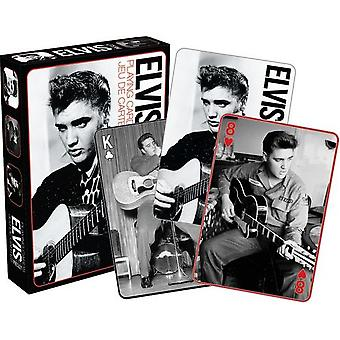 Playing Card - Elvis - Black and White Poker Licensed Gifts Toys 52151