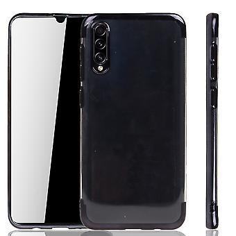 Funda de teléfono para Samsung Galaxy A30s Negro - Claro - TPU Caso de silicona Backcover Protective Case en transparente / Shiny Edge Negro