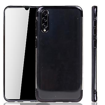 Telefoon geval voor Samsung Galaxy A30s Black-Clear-TPU silicone case back cover beschermende case in transparante/glanzende rand zwart