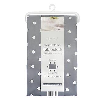 Country Club Spotty Table Cloth, Grey