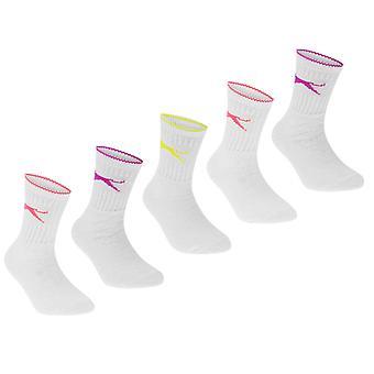 Slazenger Kids Crew Socks 5 Pack Childs