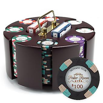 200ct Claysmith gaming Poker Knights chip sæt i karrusel