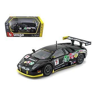 Lamborghini Murcielago FIA GT #7 Black 1/24 Diecast Car Model par Bburago
