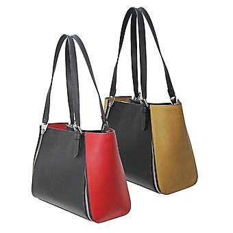 Envy Bags Envy 172 Zip Top Shoulder Bag With Interchangeable Panels Black