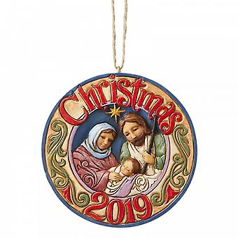 Jim Shore Heartwood Creek Holy Family 2019 Dated Hanging Ornament