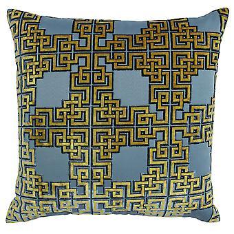 Riva Home Zeus griechische geometrische Design Polyester gefüllt Kissen