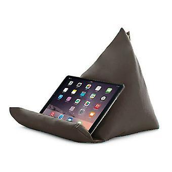 Vaaleanpunainen tabletti kirja lepo tyyny papu laukku tyyny teline iPad Kindle istuin ulkona