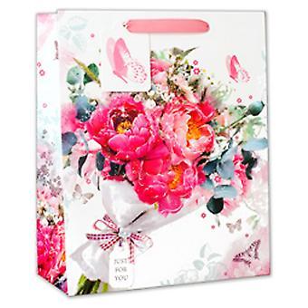 Simon Elvin Flower Bouquet Print Gift Bags (Pack Of 6)