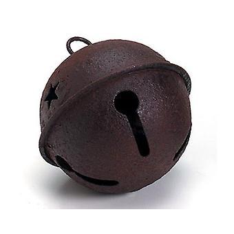 Grote Rusty 65mm Jingle Bell met ster knipsels voor ambachten
