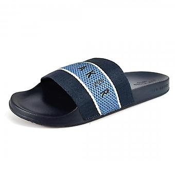 Ted Baker Rastar Contoured Sliders Slippers Dark Blue