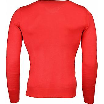 Casual sweater-Exclusive blank V-neck-Red