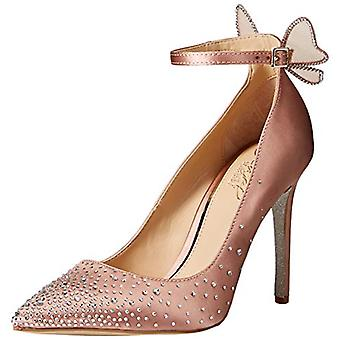 Jewel Badgley Mischka Women's KAMI Shoe, blush satin, 9.5 M US