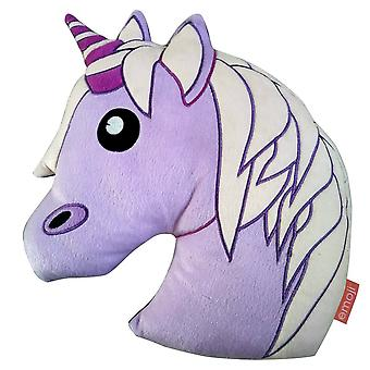 Emoji Unicorn Plush Filled Cushion