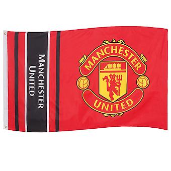 Manchester United FC Official Football Gift 5x3ft Crest Body Flag