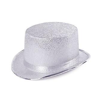 Hoge hoed. Zilveren Lurex