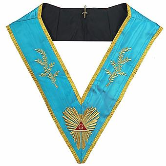Masonic memphis misraim past master worshipful collar machine embroidery