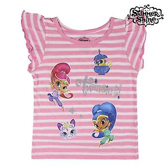 Child's Short Sleeve T-Shirt Shimmer and Shine 73483