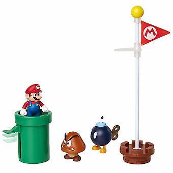 Super Mario 5-pack Acorn Plains Diorama set figuren