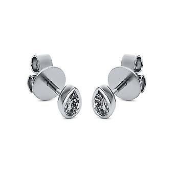 Boucles d'oreilles en goujon de diamant - 18K 750/- or blanc - 0,39 ct. - 2H728W8-1