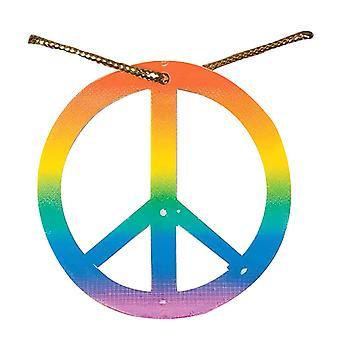 Bristol Neuheit Unisex Erwachsene Regenbogen Frieden Medaillon