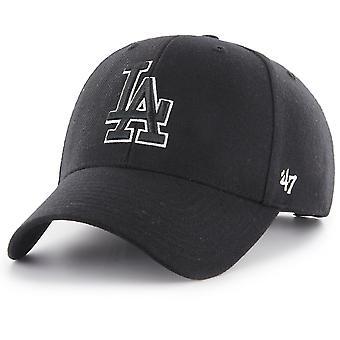 47 Brand Adjustable Cap - MVP LA Dodgers schwarz / weiß
