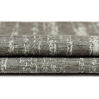 McAlister têxteis texturizado chenille cinza prata cortinas