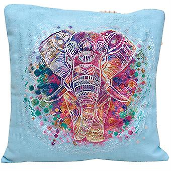 Abris Arte Cojín Cubierta Cross Stitch Kit - Elefante