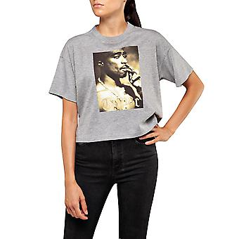 Replay Frauen's Tribute Tupac Limited Edition Crop T-Shirt