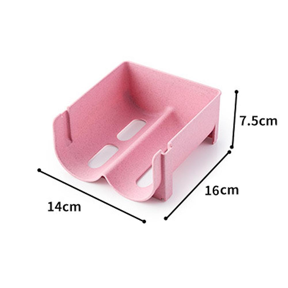 4pcs Boisson empilée rack de stockage en plastique rack de stockage stratifié 14x16x7.5cm