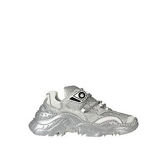 N°21 Ezgl068185 Dames's Silver Fabric Sneakers