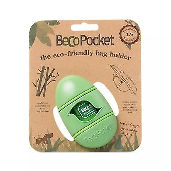 Beco Pets Plastic Poop Bags Eco Holder Green