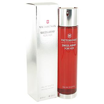 Swiss Army Eau De Toilette Spray par Victorinox 3.4 oz Eau De Toilette Spray