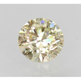 Certified 0.31 Carat M VVS2 Round Brilliant Enhanced Natural Diamond 4.16mm