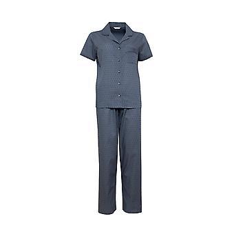 Cyberjammies Nora Rose Emelia 1427 Women's Grey Woven Clip Jacquard Pyjama Set