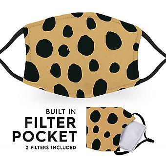 Leopard Print - Maschere Facciali Per Bambini Riutilizzabili - 2 Filtri Inclusi