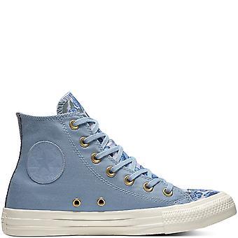 Converse Ctas Hi 561662C Washed Denim/Purple Women'S Shoes Boots