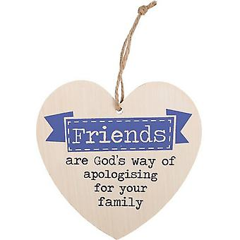 Something Different Friends Are God`s Way Hanging Heart Sign