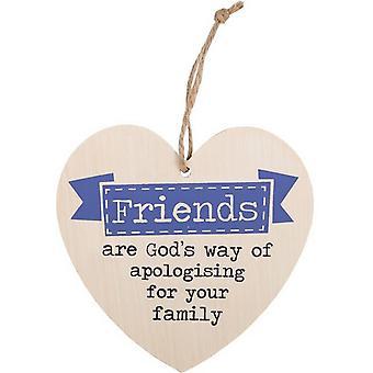 Algo Diferente Amigos São O Caminho de Deus Pendurado Coração Sinal