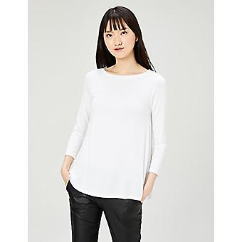 Marque - Daily Ritual Women-apos;s Jersey 3/4-Sleeve Bateau-Neck Swing T-Shi...