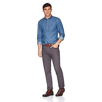 Goodthreads Men's Slim-Fit Long-Sleeve Denim Shirt, Medium Blue, XX-Large