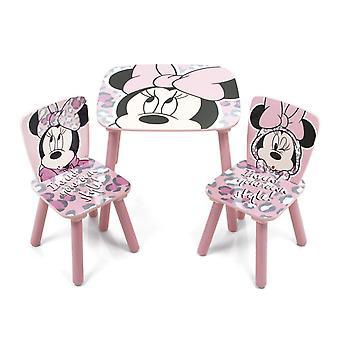 Set Holztisch mit 2 Minnie Stil Stühle